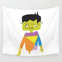frankenstein Wall Tapestries featuring Lord Frankenstein by Creo tu mundo