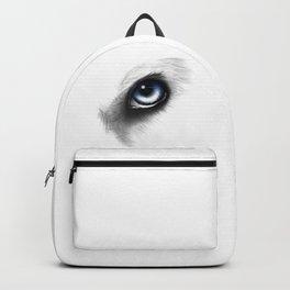 Husky Eye digital drawing Backpack