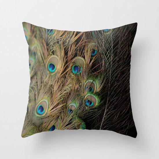 Peacock #1 Throw Pillow