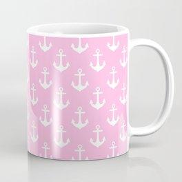 Anchors (White & Pink Pattern) Coffee Mug