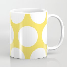 Large Polka Dots: Yellow Coffee Mug