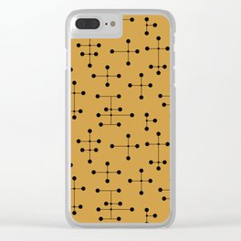 Atomic Era Dots 106 Clear iPhone Case