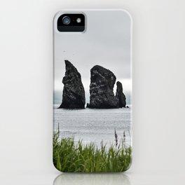 Summer view of scenery rocky islands in Pacific Ocean iPhone Case