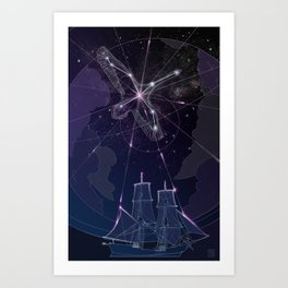 The Captain and The Swan Art Print