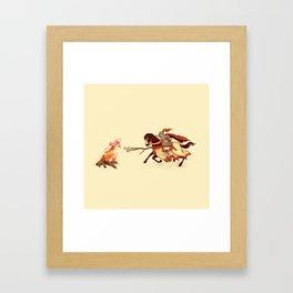 Marshmallow Joust Framed Art Print