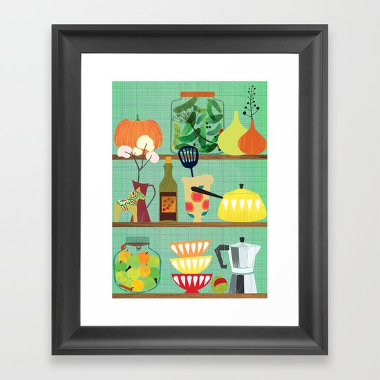 kitchen shelf 02 Framed Art Print