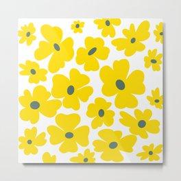 Cheery Yellow Sundrops Metal Print