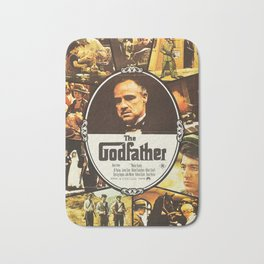 The Godfather, vintage movie poster Bath Mat