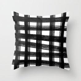 Black cage Throw Pillow