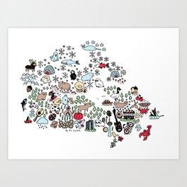 Canada Map Art Print