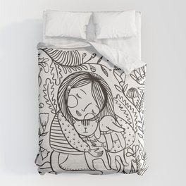 Love my puppets Duvet Cover