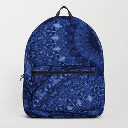 Mandala in deep blue tones Backpack