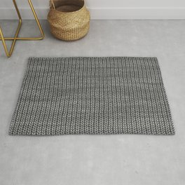 Antiallergenic Hand Knitted Grey Wool Pattern - Mix & Match with Simplicty of life Rug