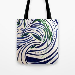 Water Flowing Plant Tote Bag
