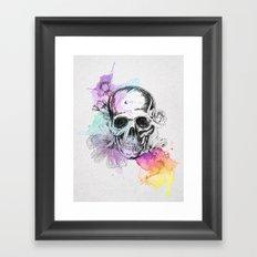 Skull flowers Framed Art Print