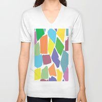 the strokes V-neck T-shirts featuring Brush Strokes by Rosie Brown