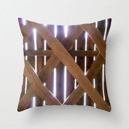 Rays of light Covered Bridge Throw Pillow