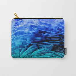 RUFFLED BLUE Carry-All Pouch