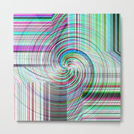 Variegated Frosted Glass Metal Print