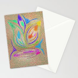 Colorful Lotus flower - uma releitura Stationery Cards