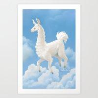 Llama llama ding dong Art Print