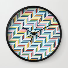 Herringbone 45 Colour Wall Clock