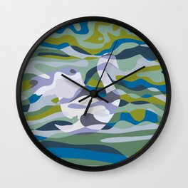Somewhere in Green Water Wall Clock