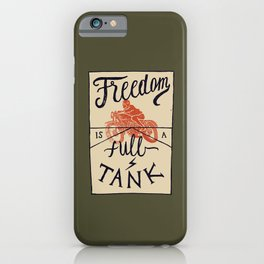 Freedom biker print iPhone Case