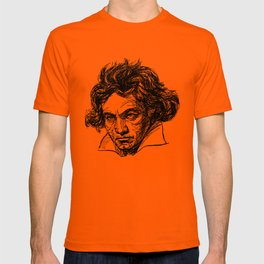 Ludwig Van Beethoven line drawing T-shirt