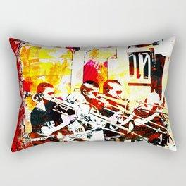 Happy noise trumpet players Rectangular Pillow