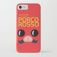 hayao miyazaki iPhone & iPod Cases featuring Porco Rosso - Miyazaki - Alternative Cartoon Poster by Stefanoreves