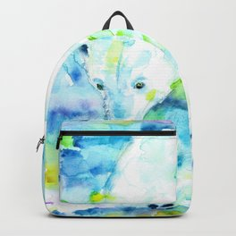 POLAR BEAR - watercolor portrait Backpack
