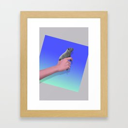 Bustin' Caps Framed Art Print