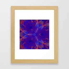 Abstract violet digital background Framed Art Print