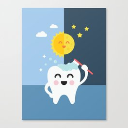 Brush your Teeth Morning and Night Canvas Print