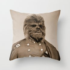 Portrait of Sir Chewie Throw Pillow