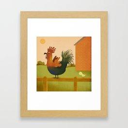 Cock-a-doodle-doo! Framed Art Print