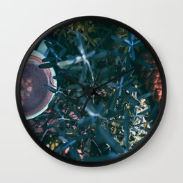 Lunch in the woods Wall Clock