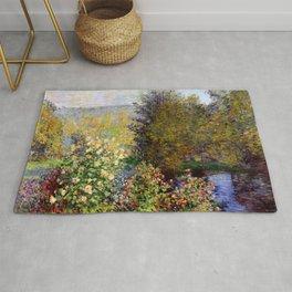 "Claude Monet ""Corner of the Garden at Montgeron"" Rug"