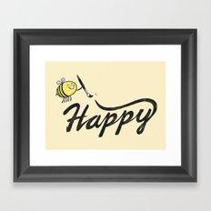 Bee Happy Framed Art Print
