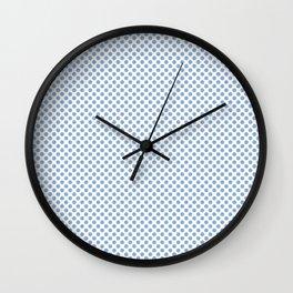 Placid Blue Polka Dots Wall Clock