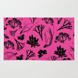 Seaweed Pink Pattern Rug