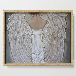 Her Morning Elegance ~Angel with Corset Serving Tray