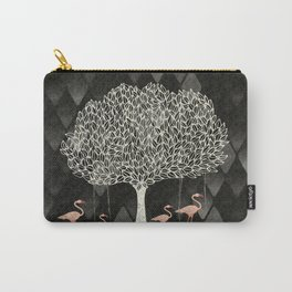 pink flamingos under the tree Carry-All Pouch
