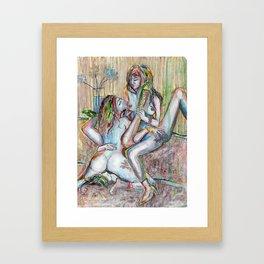 TRIOE CIOUS TRYST Framed Art Print