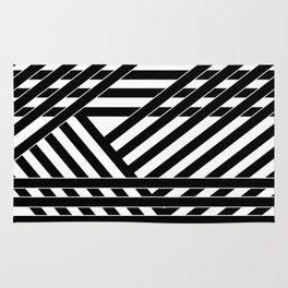 Black and white binding 1 Rug