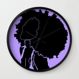 purple Wall Clock
