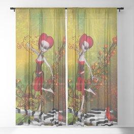 Dancing fairy Sheer Curtain