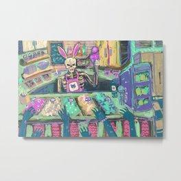 skull selling ice cream Metal Print