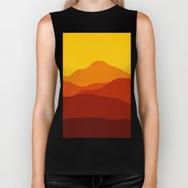 Mountains at Sunset  #society6 #decor #buyart #artprint Biker Tank